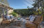 Back yard deck and drought tolerant landscaping