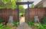 Gated entrance to property from Driveway