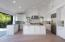 """Custom Alder wood cabinetry, Thermador 48"""" stainless steel appliances & cascading Statuary Quartz counters"""