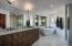 Master Bath w/soaking tub, walk in Carrara shower w/White Oak vanity & black matte Brizo fixtures