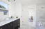 """""""Jack and Jill"""" Guest bathroom shared with upstairs guest bedrooms 1 & 2"""