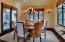 Dining Room with views of rear patio and preserve