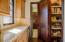 Butler's pantry adjacent to kitchen