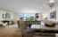Dining area, living area, and views; wide plank white oak flooring throughout