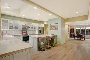 REMODELED KITCHEN IN RELATION TO FORMAL DINING