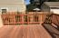 Gorgeous 275' redwood deck off master bedroom provides fabulous outdoor living space to relax and entertain.