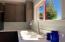 View from kitchen sink, beautiful original large sliding windows