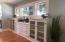 Original built in cabinets restored.