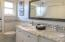 Double sink, marble top