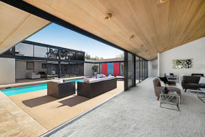 Living Room opens to protected private Courtyard