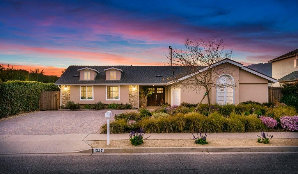 STUNNING Carpinteria home, expanded & remodeled. This marvelous single-level 4bed/3.5 bath, enhanced w/ distinctive features, is the essence of sophistication w/ top-of-the-line finishes & details. Situated on an appx 10K SF parcel at the end of the lane, enjoy mountain views at every glance. The entertainer's kitchen boasts of contemporary cabinetry, gorgeous stone counters, stainless steel appliances & pantry. The master en-suite, w/ fireplace, vaulted ceilings, walk in closet & window seat, opens to the rear yard & patio. Luxurious mst bath, w/ soaking tub & Carrara tile shower complement the double sinks & stone floors. Dual master suites are ideal for guests or family. Exquisite care has been taken remodeling this home.The open concept offers truly seamless entertaining and everyday living. Impeccably appointed with French doors, dormer windows & sitting windows,  bring in views and light. Wood floors flow throughout the home from the front door to the private patios Enjoy al fresco dining amongst beautiful native California landscape with specimen plants, fruit trees and permeable brick patio. Custom brick driveway and finished 2-car garage offer ample parking for both big and small toys. Carpinteria is one of the best kept secrets, why not make it your home?