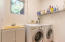 Dedicated laundry room with utility sink.