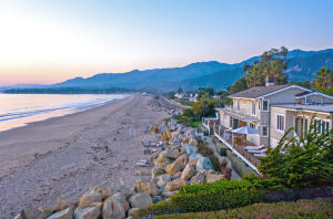 Privacy and seclusion perfectly paired with more than 250' of beach frontage at the southern end of one of Santa Barbara's most coveted beaches.