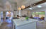 Open living, dining & kitchen room