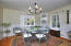 Formal dining area off kitchen and living room.