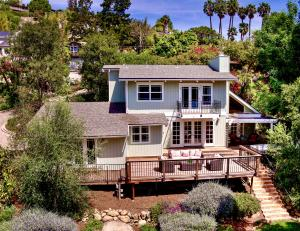 Idyllic setting in beautiful Mission Canyon nestled on a private double lot.