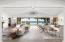 Virtually staged living room at Villa Del Mare