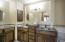 Concrete counter tops and custom cabinetry.