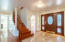 "Marble Floors, Hardwood Staircase, Custom 40"" Front Door"