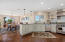 Granite counters in this beautiful kitchen overlooking the great room and views.