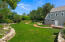 Incredible green space entertaining area, play space, or room for a pool.