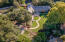 Aerial view of expansive backyard area.