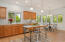 Bright sunny kitchen with breakfast area