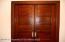 Original pocket doors separating the living room & dining room