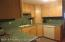 New! corian kitchen. Lots of cabinets.