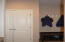 Coat closet or pantry closet your choice coming in from garage