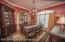 Formal Dining room with custom hardwood flooring