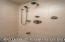 Rain shower components in steam shower
