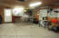 Three car garage interior