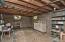 View of basement beneath Master Bedroom -- block wall.