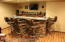 Custom bar with granite top