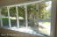 Bay window in living room.