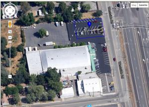Aerial Photo with parcel lines.