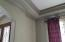 Double custom crown moulding in Formal Dining room