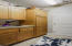 Cabinets for ample storage in the laundry room