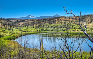 Lake Carobe On the Property Mt Lassen in the back ground