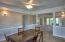 Dining Room with Custom Bamboo hardwood