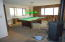 game room or family room... open to either. Pool table stays
