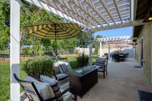Gorgeous Backyard with Large Pergolas