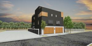 Exterior Rendering for 1266 and 1268 Oregon St.