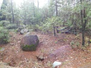 Large Rock at entrance