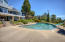 Pebble Tech pool with diving board and slide with variable speed pump