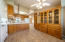 Cabinets in eating area