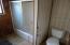 Bathroom off hallway