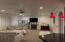 MASSIVE LIVING SPACE WITH GASLITE FIREPLACE, GRANITE BASE, BOLD MANTEL, CANNED LIGHTS, NEW CEILING FAN & CARPET