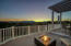Large deck area for viewing sunset